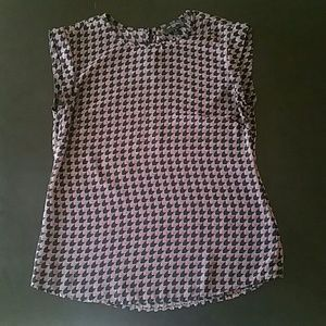 The Limited petite XS cap sleeve patterned shell